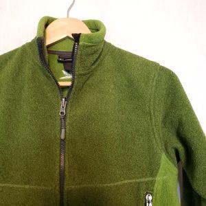 REI Full Zip Two Tone Green Fleece